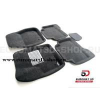 Текстильные 3D коврики Euromat3D Business в салон для Ford Kuga (2012-) № EMC3D-002210G Серые