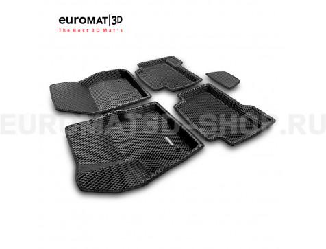 3D коврики Euromat3D EVA в салон для Ford Kuga (2008-2012) № EM3DEVA-002208