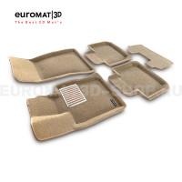 Текстильные 3D коврики Euromat3D Lux в салон для Bmw 6 GT (G32) (2017-) № EM3D-001207T Бежевые
